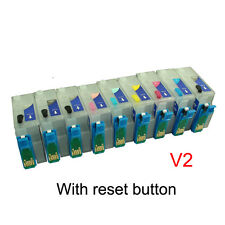 NON-OEM Refillable Ink Cartridge kit CISS for EPSON R3000 with resetter button