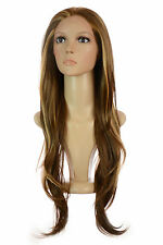 Rumer Long Wavy Lace Front Wig | Natural Brown | Highlight Blonde with Layers