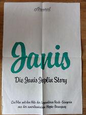 Kinoplakat DIE JANIS JOPLIN STORY Hippie Kult