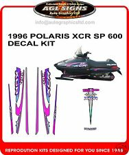 1996 POLARIS INDY XCR 600 SP HOOD DECALS , shroud  graphic