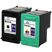 2pk HP 92 93 Ink Photosmart C3135 C3180 C3140 3173 C3150