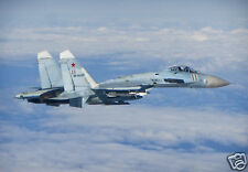 Russian Air Force Fighter Aircraft SU 27 Flanker 12x8 Inch Photograph Reprint