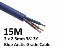 15M Arctic Blue 3183Y Flex Cable 3core x 2.5mm Outdoor Caravan Camping Artic