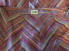 Women's Viyella Skirt PINK PURPLE MIX Diagonal SKIRT Party SIZE12