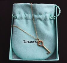 Tiffany & Co. 18K Rose Gold  Heart Key Pendant Necklace