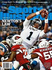 New Sports Illustrated Cam Newton Newton's Law Carolina Panthers 2016 No Label