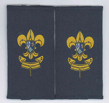 MACAU (MACAO) SCOUTS - SCOUT COMMITTEE MEMBER Rank Epaulettes Patch PAIR