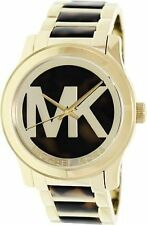 Michael Kors Women's MK5788 Runway Tortoise Stainless Steel Watch NWT Needs Batt