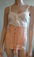 Vintage 20s-30s MODART lace-up LADIES' Sexy CORSET Pink Damask; FINE, Flex size
