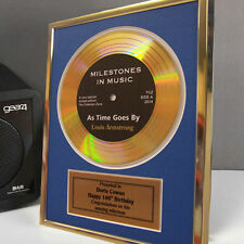 Personalised Framed Gold Record Disc 70th 80th 90th 100th Birthday Gift Idea