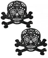 Pastease Skulls Black White Day Of Dead Reusable Dancer Breast Nipple Pasties