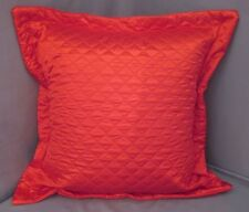 """1 Pair 2 Pieces Red Quilted Euro Pillow Shams 26""""x 26""""+1.5"""" Hem New Solid"""