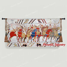 """Bayeux-I Medieval Old World Tapestry Wall Hanging, Cotton 100%, 55""""x31"""", US"""