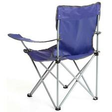 1x Eurohike Blue Folding Chair Blue New Drink Holder Camping Fishing Carry Bag