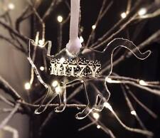 Personalised engraved Acrylic Hanging Tree Decoration CAT name XMAS 2016