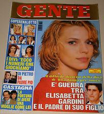 GENTE=1998/46=ELISABETTA GARDINI=ELEONORA BRIGLIADORI=SAVERIO MARCONI=RETTONDINI