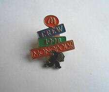Vintage 1998 McDonalds Crew Member Monopoly Man Game Advertising Pin Pinback