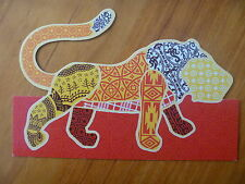 POSTCARD...WOMADELAIDE 2011...WORLD MUSIC FESTIVAL..WOMAD..LION SHAPED CARD
