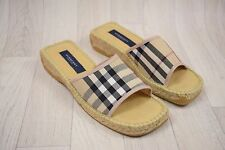 Ladies Burberry Check Mule Sandals Shoes Size UK 4 EU 37
