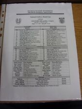 24/03/2007 teamsheet: ISRAELE V Inghilterra [AT NATIONAL STADIUM, Ramat GAN]. Tutina P