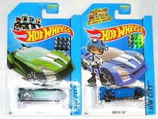 2014 HOT WHEELS FACTORY SET CITY QUICK N SIK X2 BOTH COLORS
