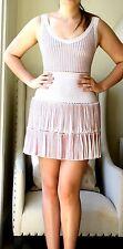 AZZEDINE ALAIA WHITE TIERED DRESS FR 38 UK 6/8 US 2/4
