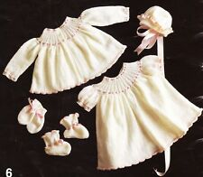 VINTAGE BABY RIBBON & FRILLS  LAYETTE 3 to 9 mths / 3ply - COPY knitting pattern