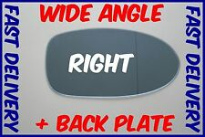 BMW 5 E39 M5 1997 - 2003 WING MIRROR GLASS BLUE WIDE ANGLE RIGHT + BACKING PLATE