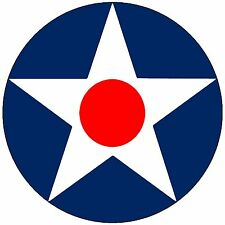 Usaac Army Air Corps Usaf WW2 Roundel Fighter Bomber Airforce P51 P38 B17 Decal