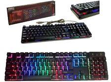 KR-6300 Tastiera da gioco silenziosa,RGB LED,gaming keyboard.Rosso,blu,rosa,nero