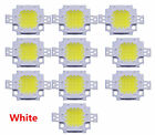 Useful 10Pcs DC 9-12V 10W White SMD LED Lamp Bead Bulb Chip Energy Saving