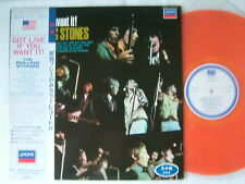 PROMO LABEL ORANGE VINYL / THE ROLLING STONES GOT LIVE IF YOU WANT IT / WITH OBI