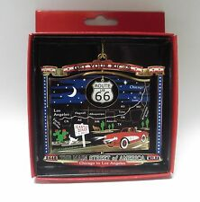 Route 66 Brass Ornament Main Street of America Get Your Kicks Travel Gift