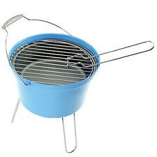 Secchio Blu Portatile in Acciaio Inox Barbecue Griglia perfetto per le escursioni