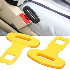 2X UNIVERSAL CAR SEAT BELT BUCKLE SAFETY CLASP INSERT ELIMINATE ALARM STOPPER