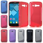 S-Line Flexible Soft TPU Rubber Case Cover for Alcatel One Touch POP C1 C3 C7 C9