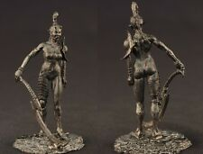 tin toy soldiers unpainted  54mm fantasy girl