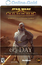 60 Days SWTOR Pre-paid Time Card - Star Wars the Old Republic GameCard Code EU
