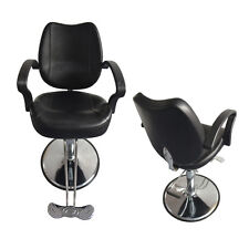 Hydraulic Barber Chair Salon Beauty Spa Hair Styling Black Barber Cape Classic