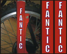 Fantic adesivo forcella bianca bordo blù - adesivi/adhesives/stickers/decal