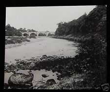 Glass Magic Lantern Slide CHOLLERTON BRIDGE C1910 NORTHUMBERLAND