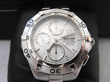 CAF2011.BA0815 TAG HEUER AQUARACER  AUTOMATIC CHRONOGRAPH STEEL SILVER  WATCH