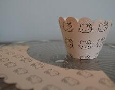 Fairy Cupcake Muffin Wrappers Cake Decorating x 12 HELLO KITTY THEMED PEACH CARD