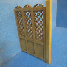 1/12 scale Dolls House Furniture  Room Screen  Stain and Waxed  LS01SW