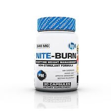 BPI NITE BURN Nighttime Sleep Aid Fat Burner 30 Capsules