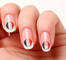 20 Nail Art Decals Transfers Stickers #418 - World Cup France flag icon