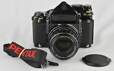PENTAX ASAHI 6X7 FILM CAMERA w/Super-Takumar 105mm F2.4 Lens FILM TESTED/WORKS++