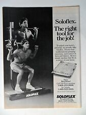 1985 Print Ad Solo Flex Bodybuilding Machine ~ The Right Tool For the Job