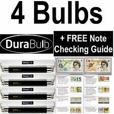 4 x DuraBulb® F4 T5 BLB 4W UV Bulbs Fake Bank Note Detector Money Checker Tubes