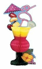Tropical Drink Luau Beach Pool Party Centerpiece 6.5 in x 12 in Tiki Cocktail